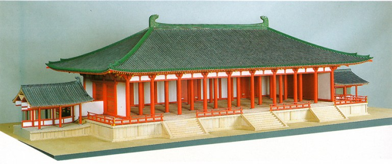 Fig. 09 - Model of the Burakuden (Hall of Prosperity and Happiness)