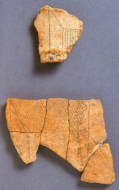 Fig. 08 - Decorated pottery fragments from Ikegami-Sone