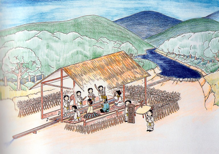 Fig. 13 - Reconstruction of Nango-ohigashi, Nara prefecture from the Middle Kofun period