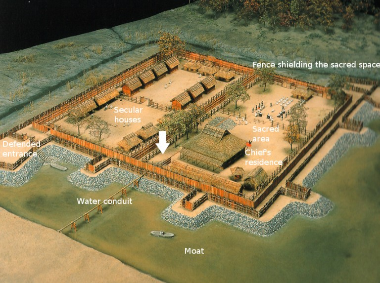 Fig. 09 - Reconstruction of the Middle Kofun period site of Mitsudera 1, Gunma prefecture