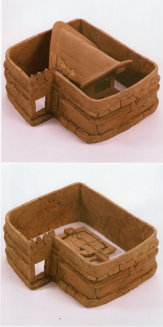 Fig. 15 - Haniwa of water ritual facility from Takarazuka No.1 kofun, Mie prefecture