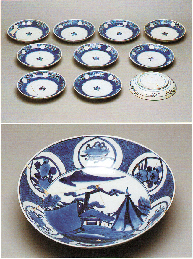 Fig. 16 - Banqueting dishes from the excavations of the Kaga residence