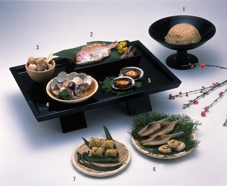 Fig. 15 - Reconstruction of a Yayoi meal from western Japan