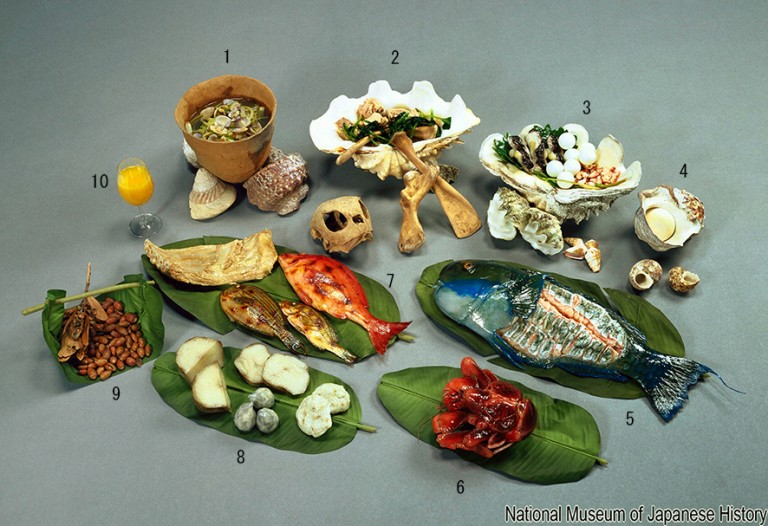 Fig. 17 - Reconstruction of a Ryukyu islands meal
