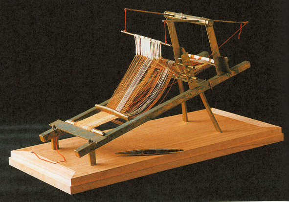 Fig. 18 - Reconstruction of a gilt-bronze miniature loom from Okinoshima.