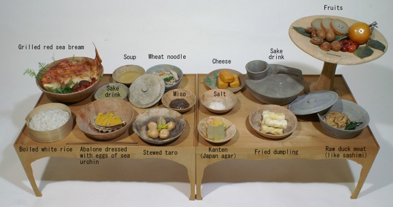 Fig.10 - Reconstructed Heian period imperial meal