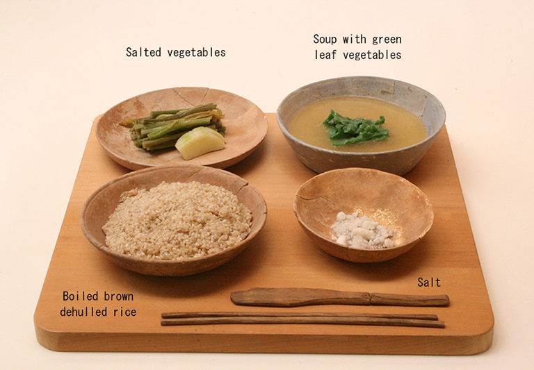 Fig.11 - Reconstructed Nara period meal
